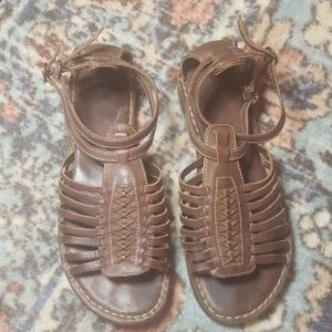 Frye Strappy Leather Sandals 8.5